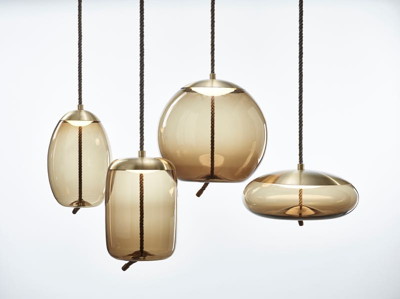 The Knot pendant lights by Chiaramonte Marin for Czech lighting specialist Brokis.