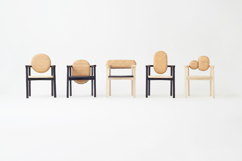 The armchair selection from Nendo's 2015 collection 'Tokyo Tribal' for Industry+  Photo:  Akihito  Y  oshida.