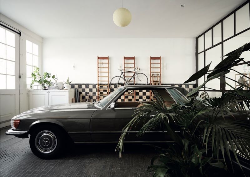 Hessing & Lauwen's classic Mercedes in the old milk factory that serves as home and creative space for the WOTH founders.