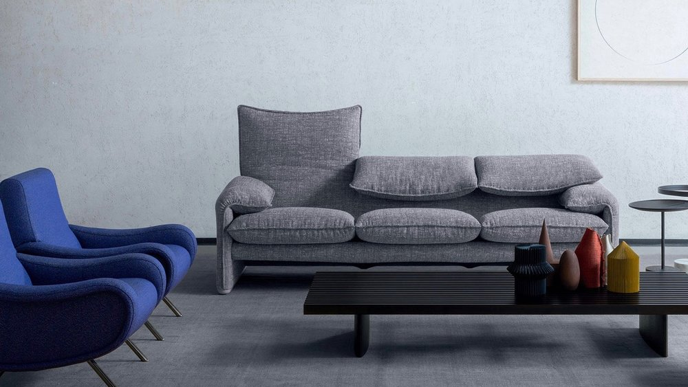 The 'Maralunga' sofa from 1973 has been in continuous production by Cassina and is still a big seller.