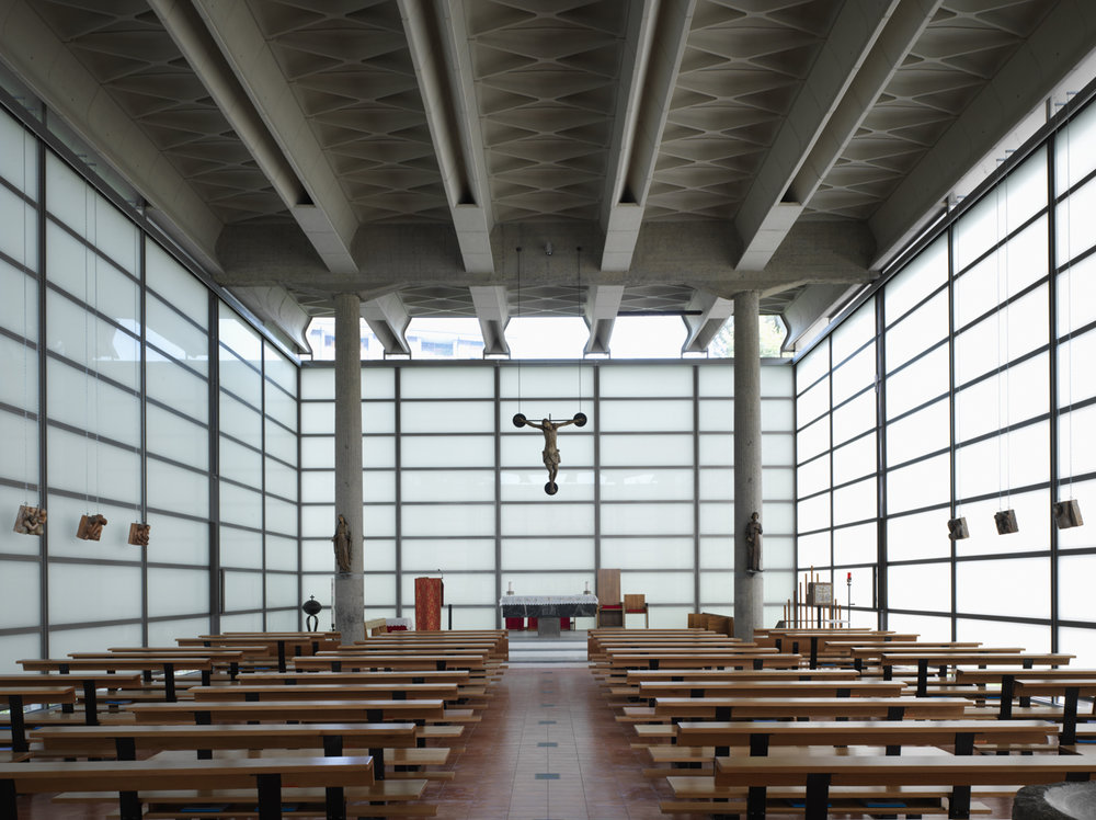 "The restored ""Glass Church"", Chiesa di Nostra Signora della Misericordia. Photograph by Marco Introini."