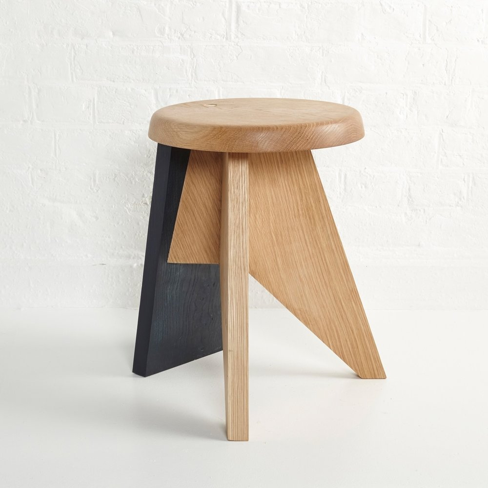 The 'Ebonised Stool' by Lola Lely Studio sold through The New Craftsmen.