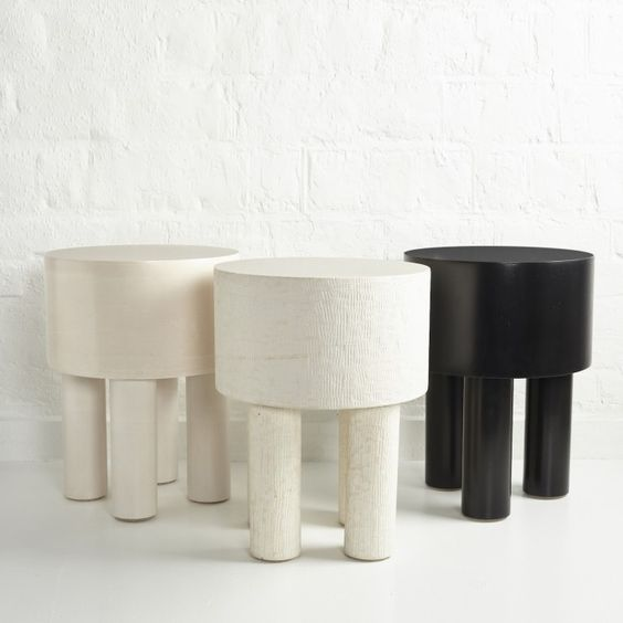 'PIlotis' side tables by Malgorzata Bany, sold through The New Craftsmen.