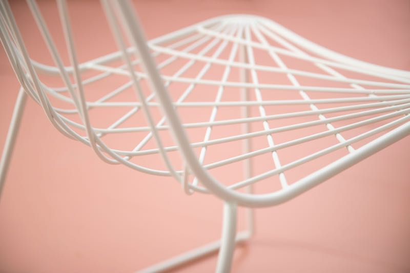 The 'Chee' chair in close up. Designed by Tom Fereday for the SP01 outdoor collection. Photography by Jason Busch.