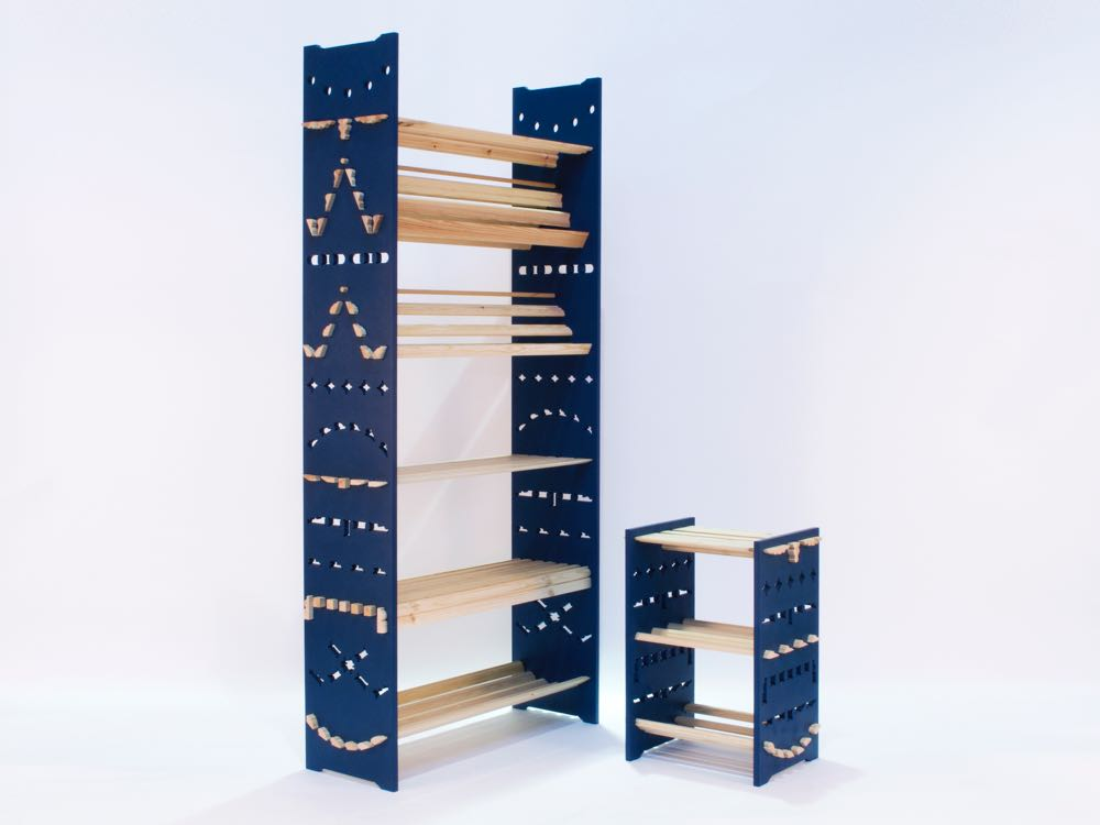 Adam Guy Blencowe's  'Dado' shelving.