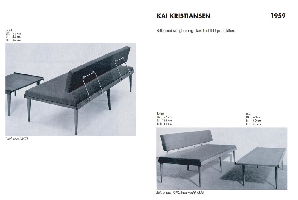 A Fritz Hansen advertisement for the Kai Kristiansen daybed/sofa system Model 4571 from 1959. Image courtesy of Fritz Hansen.