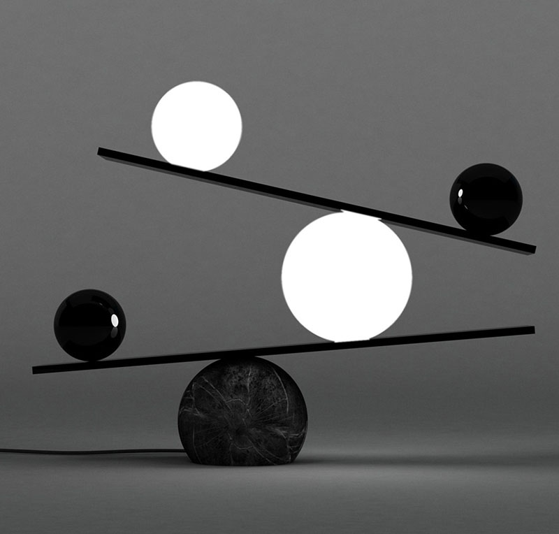 A closer look at the 'Balance' light by Victor Castaneras for Oblure