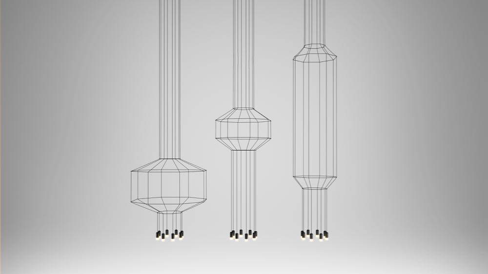 Aria Levy's 'Wireflow' lights for Vibia.