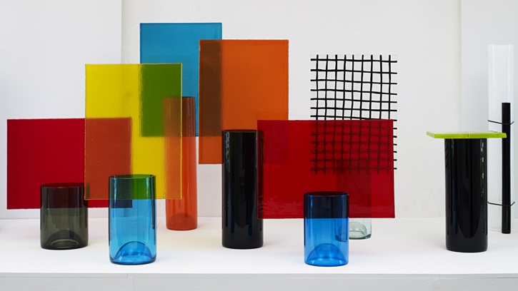 Pierre Charpin vessels for Cirva 1998 -2001. Photograph by Michael Bonvin.