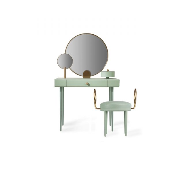 Maison Dada's 'Rose Sélavy' dressing table / vanity and stool.