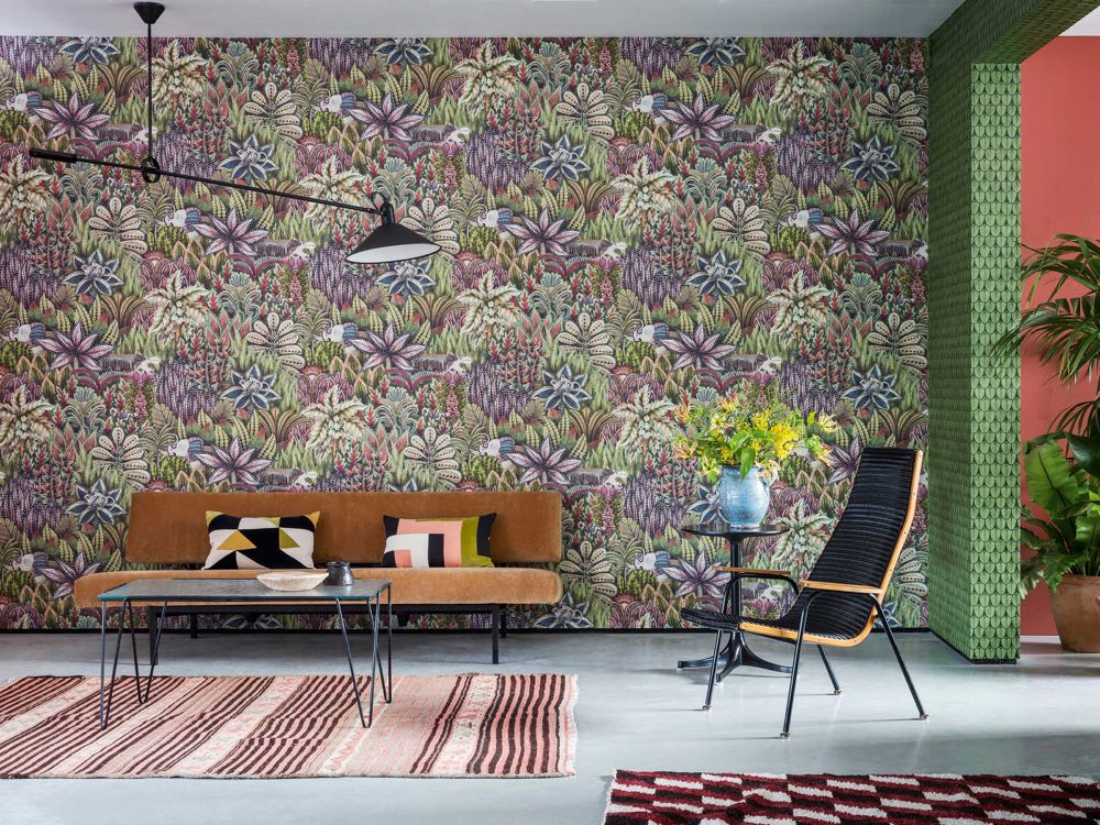 British wallpaper company Cole & Son, launched their 'Singita' wallpapers - a collaboration with South African ceramics studio Ardmore Ceramic Art.