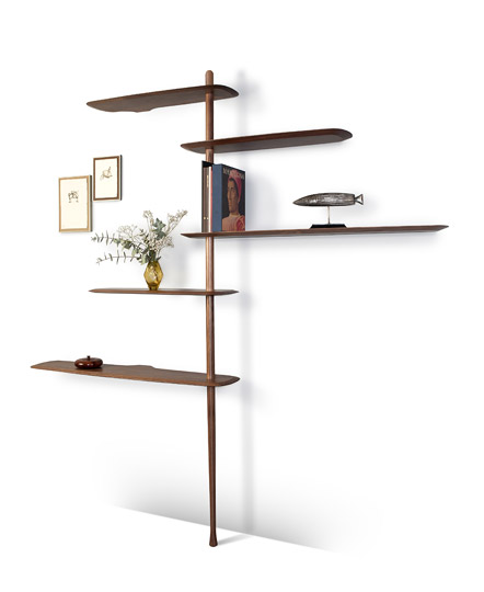 Barcelona brand 'Nomon' showed their 'Estanteria' shelving that seems to melt into the wall.