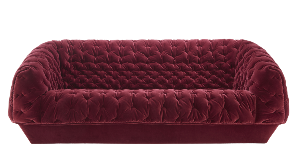 The 'Cover' sofa by Marie-Christine Dorner for Ligne Roset modernises the Chesterfield look .