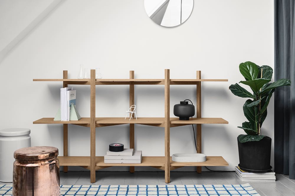 Hem also launched the ingenious 'Zig Zag' shelving by Czech designers Studio deFORM (Jakub Pollág and Václav Mlynář).