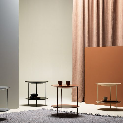 'Pastille' side tables by TAF Arkitekter for Fogia. Note the beautiful soft conical form of the top.
