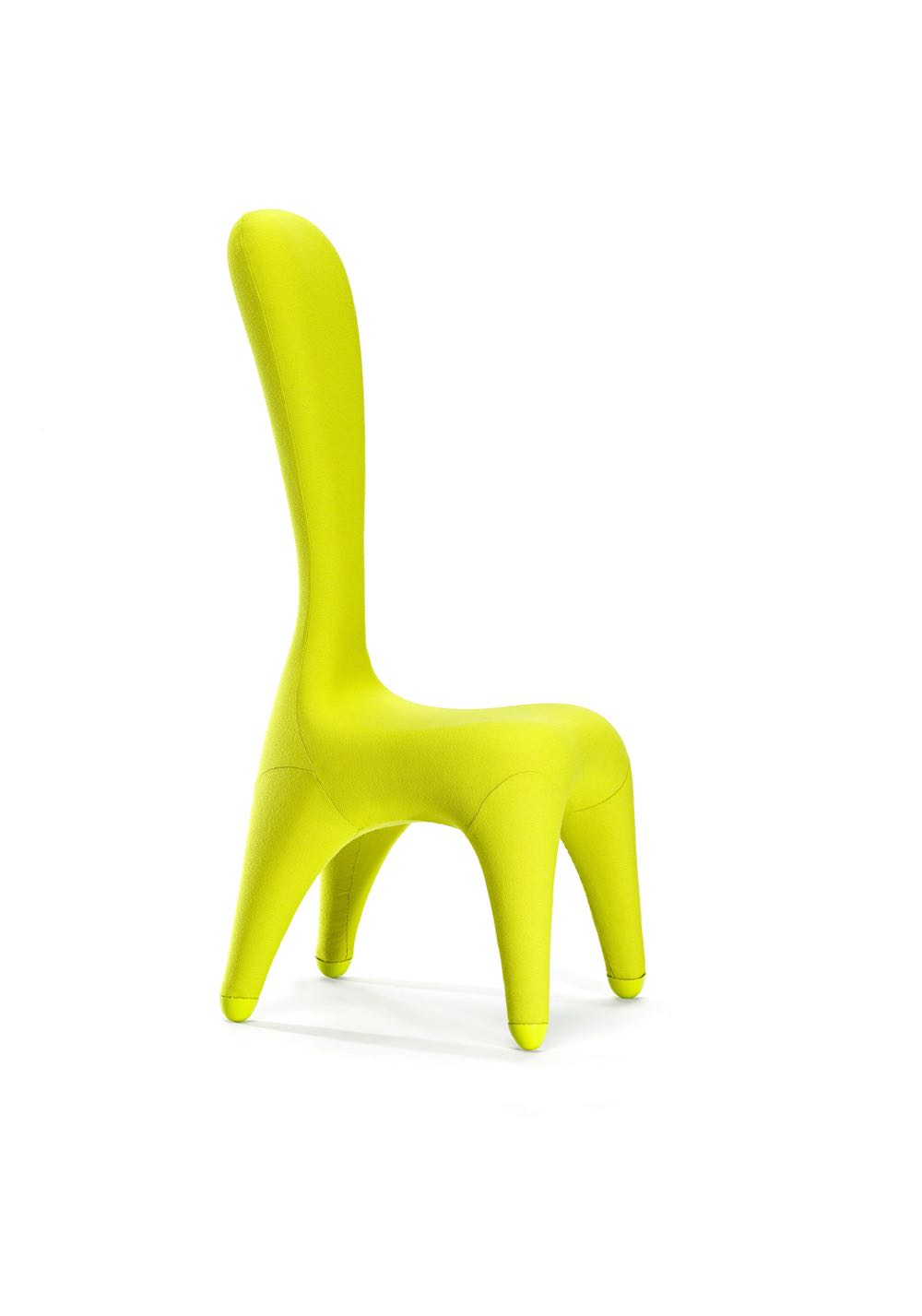 Chris Connell 'Pepe' chair designed in 1992 and produced by Merchants of Australian Products Pty. Ltd, Melbourne.   Injection-molded CFC-free flexible polyurethane foam, self-skinning polyurethane, wool and steel. 131.5 x 50.8 x 61 cm