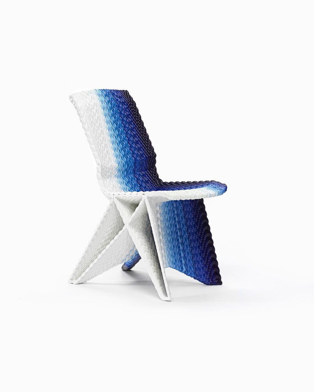 The 'Endless chair' by Dirk Vander Kooij designed in 2010. The chair is manufactured in extruded polycarbonate by Dirk Vander Kooij using a robotic arm. 79.0 x 40.0 x 62.0 cm