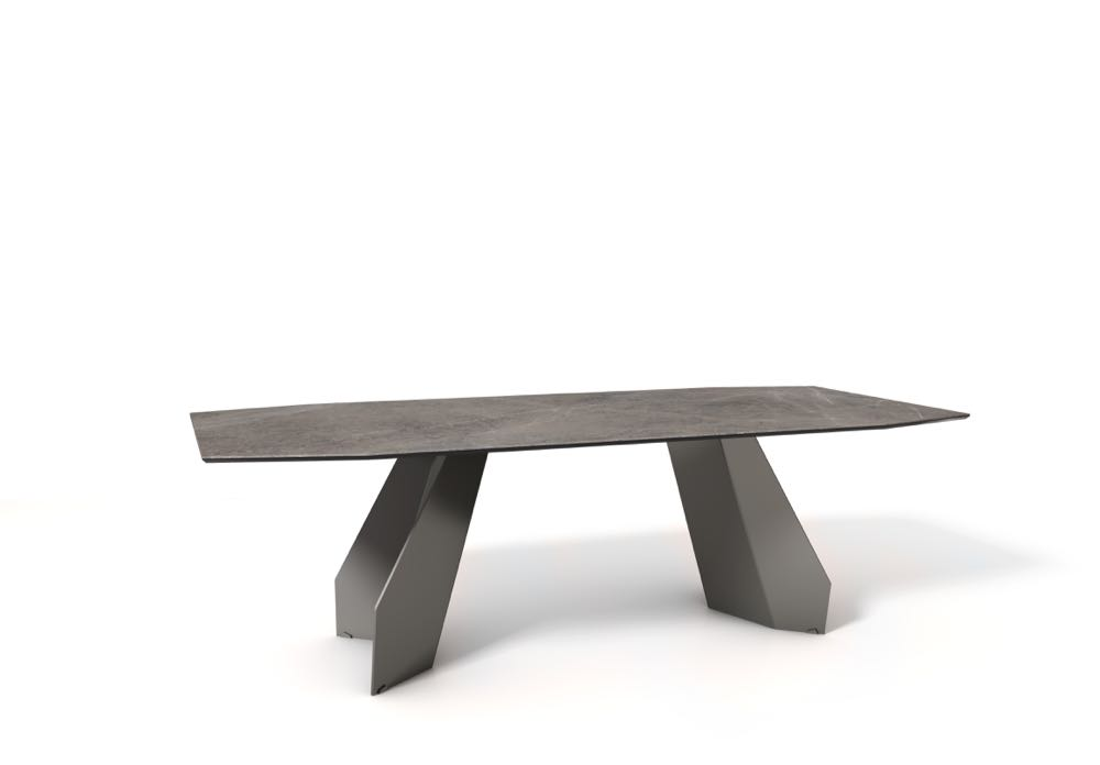 Gino Carollo's 'Origami' table for Bonaldo. Laser cut slabs of steel.