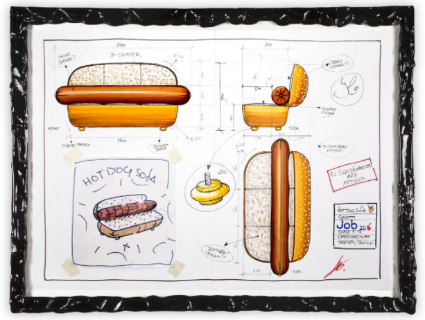 The 'Hotdog Sofa' by Sudio Job for Seletti.