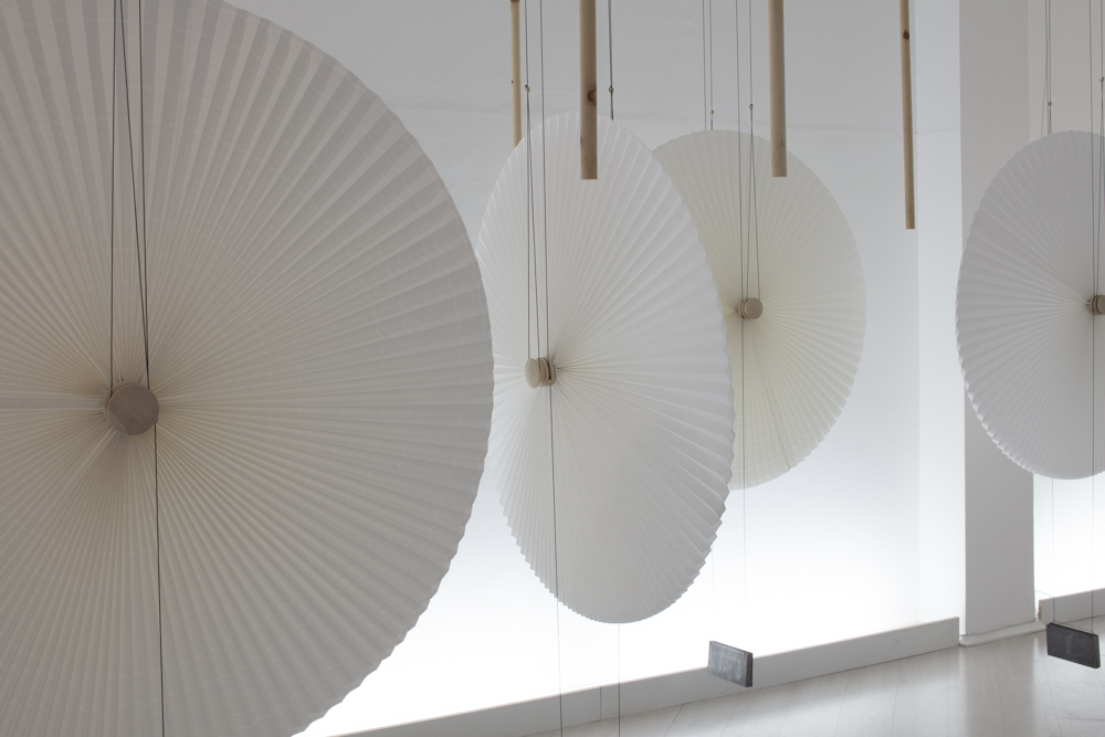 Swiss designers Atelier Oi presented another beautifully curated show for Japanese prefecture Gifu again this year - this time celebrating the art of paper making with kinetic umbrella forms that move up and down while spinning. Photo by Craig Wall.