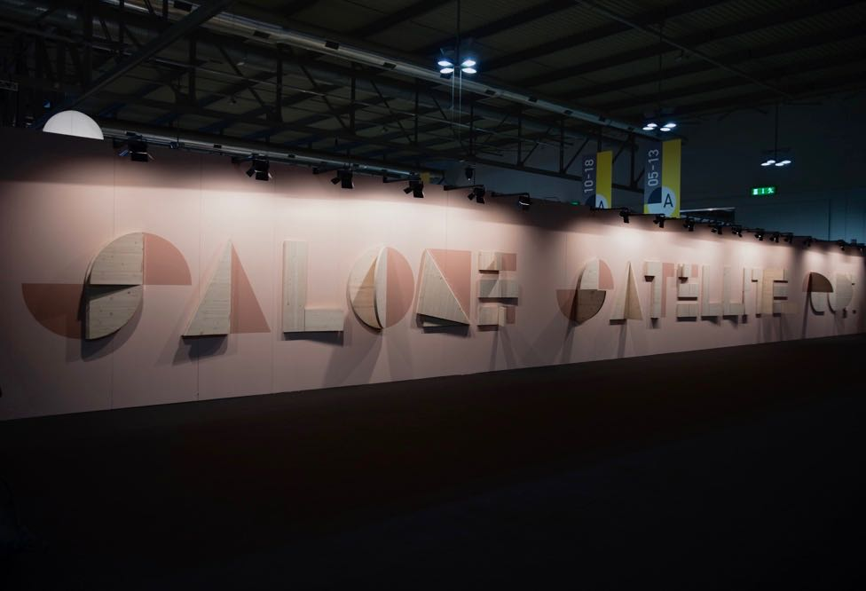 Salone Satellite 2017 - the entire look of the event was more polished than previous years with on trend colours and interesting signage at the entrance. Great displays in the common areas exhibited the work of successful past designers.