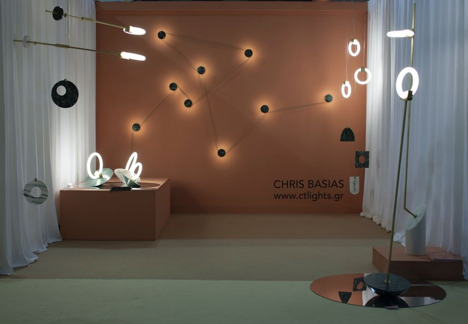 The stand of Greek designer Chris Basias was right on trend from a colour and materials point of view but also delivered some interesting and highly original concepts. Photograph by Craig Wall.