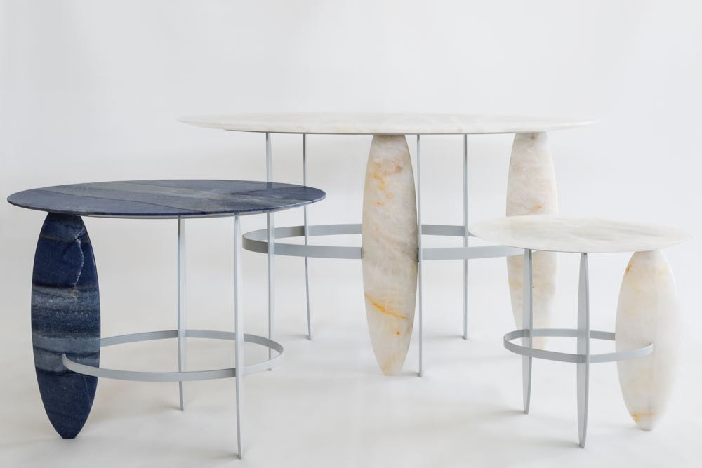 From the AuCap collection, the 'Pablina' tables are by Leo Di Caprio (no not the actor Leonardo Di Caprio).