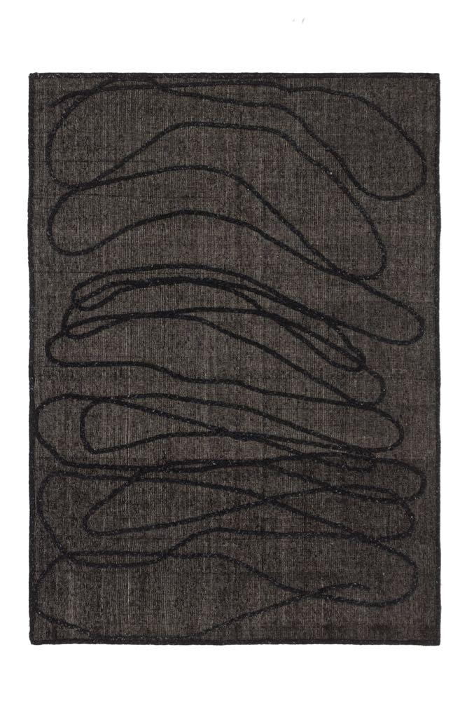 'Rope' in charcoal by Faye Toogood for cc-tapis.
