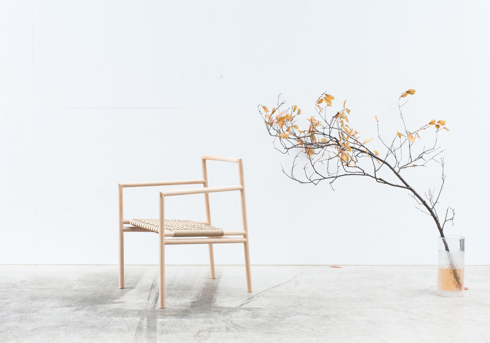 Andrew Carvolth's 'Ainsworth' chair - skeletal Scandinavian Japanese minimalism.