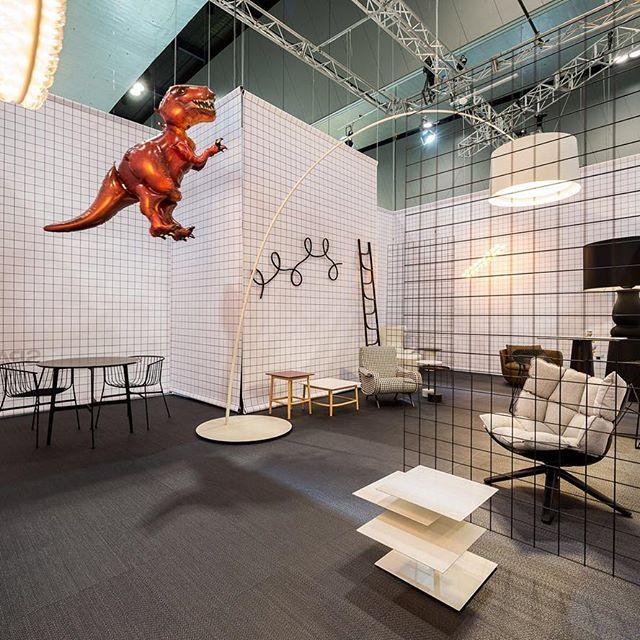 Space Furniture was one of the biggest names showing at Denfair. Their gridded stand featured floor ing from Bolon and various pieces from Arflex, B&B Italia, Cassina, Foscarini, Gebruder Thonet Vienna, Moooi and SP01.
