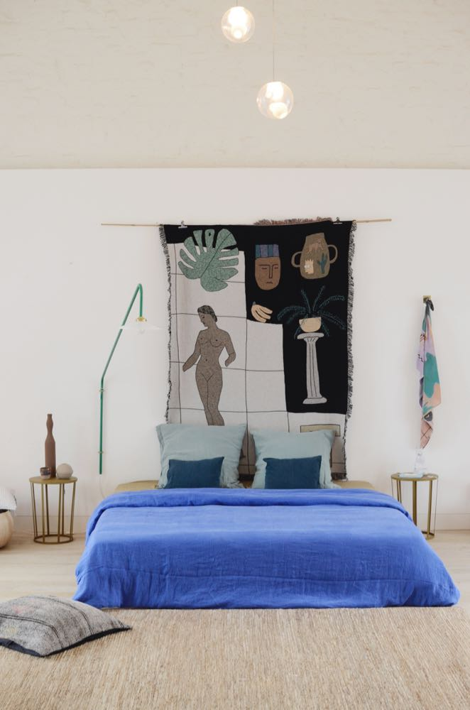 A bedroom set-up in I/Object, the interiors store that is part of the multi-business Clouds9000 run by Veva Van Sloun.