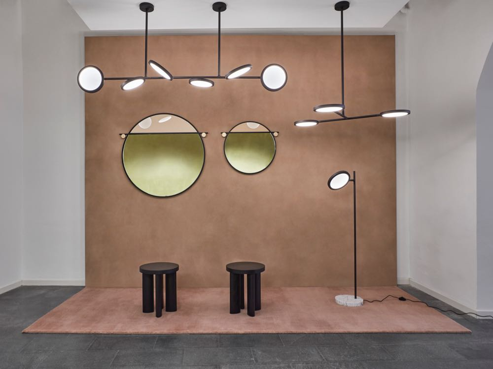 The 'Abal' mirrors from Matter Made on show in Milan in April.