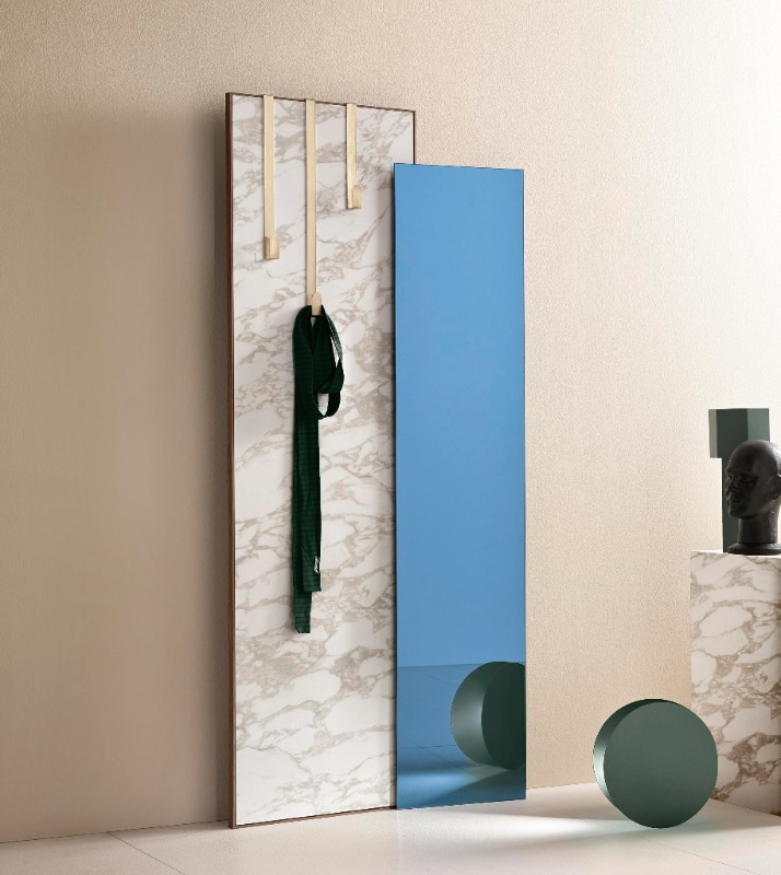 'Welcome' by Uto Balmoral for Tonelli. A layered design that functions as wardrobe and mirror.