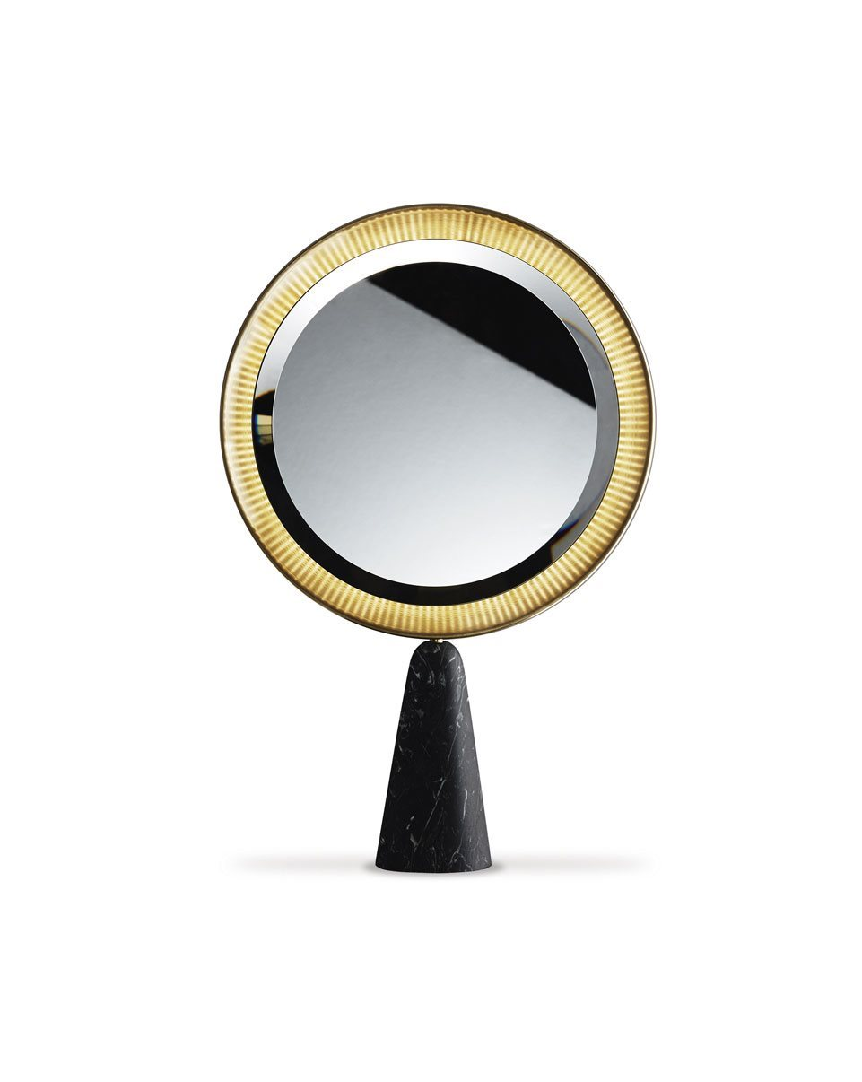 The 'Selene' mirror by Pietro Russo for Galotti & Radice.
