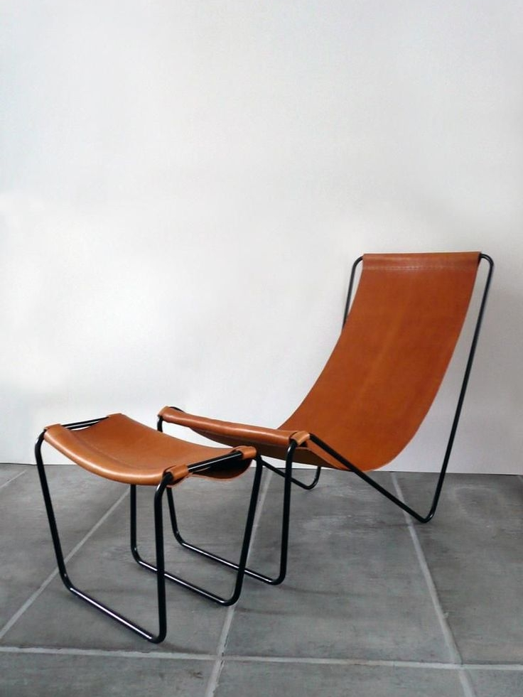 The G55 sling chair and footstool by Michaël Verheyden.