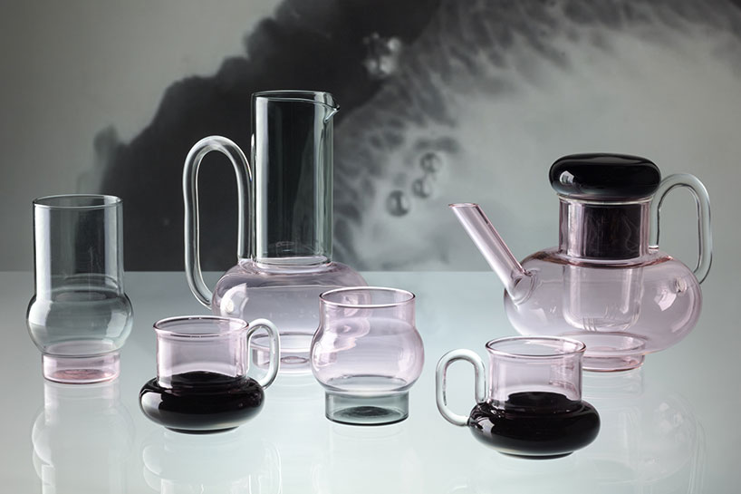 The more practical side of the 'Bump' collection consists of delicate teapots and teacups.