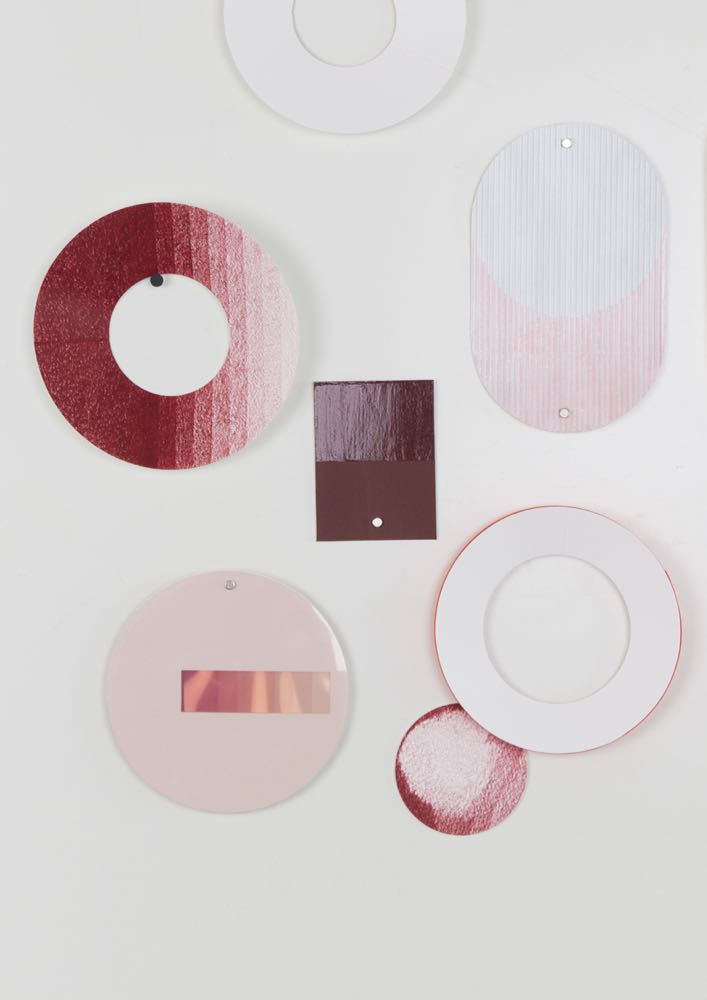 Paper colour studies by Scholten & Baijings for their ceramic works for Sévres.