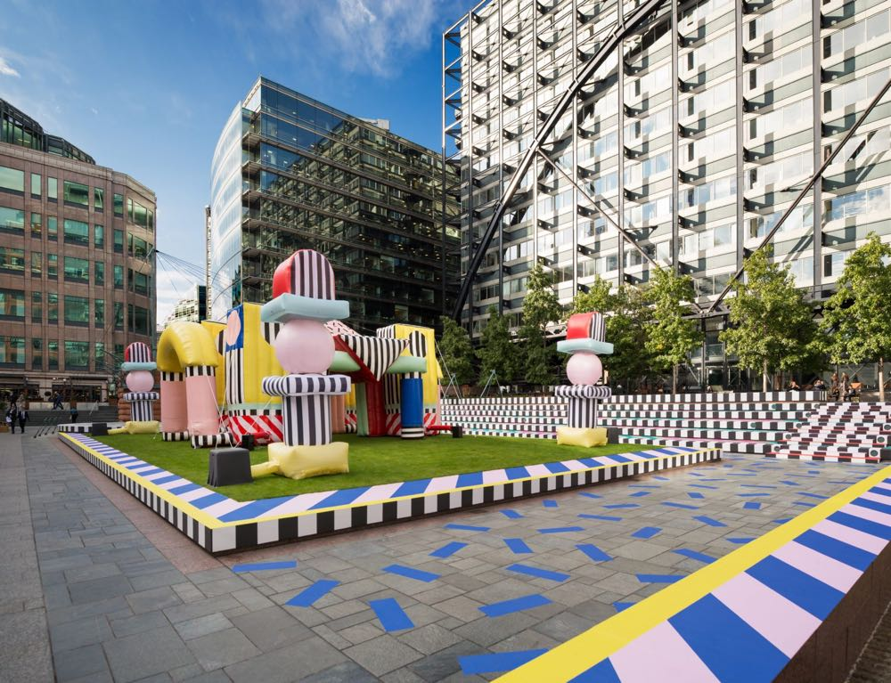 The Villa Walala installation at Broadgate by Camilla Walala (supported by British Land) was a hit with the general public.