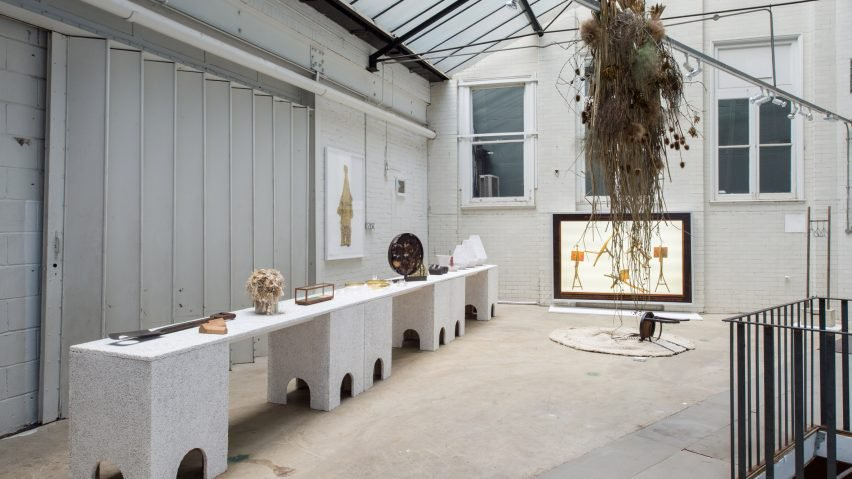 Faye Toogood's installation Trade Show at the Garage Gallery in South Kensington.