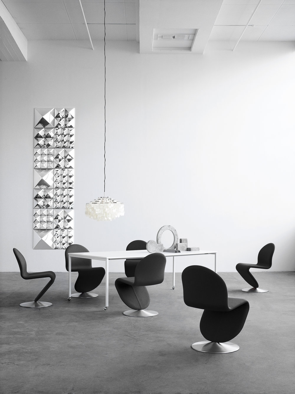 The 'Fun 10dm' pendant light among a host of revolutionary Panton pieces from Verpan.