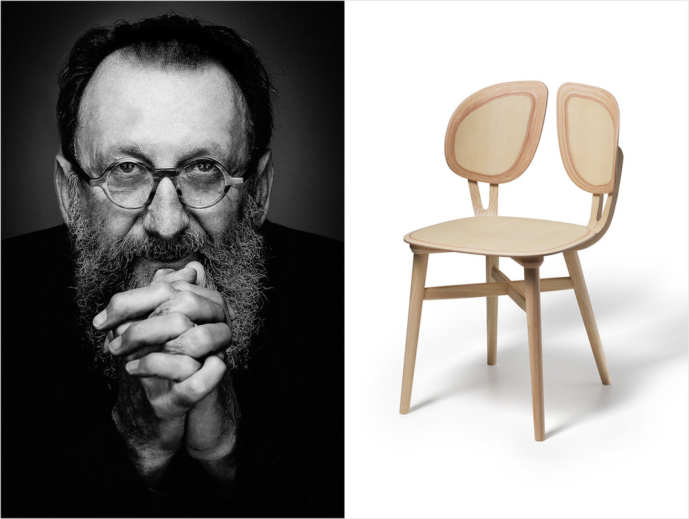 The maestro Michele De Lucchi has designed an extraordinary new chair 'Filla' for Italian chair company  Very Wood  that will be launched during Salone. Very Wood are at Salone del Mobile - Hall 7 stand G14.