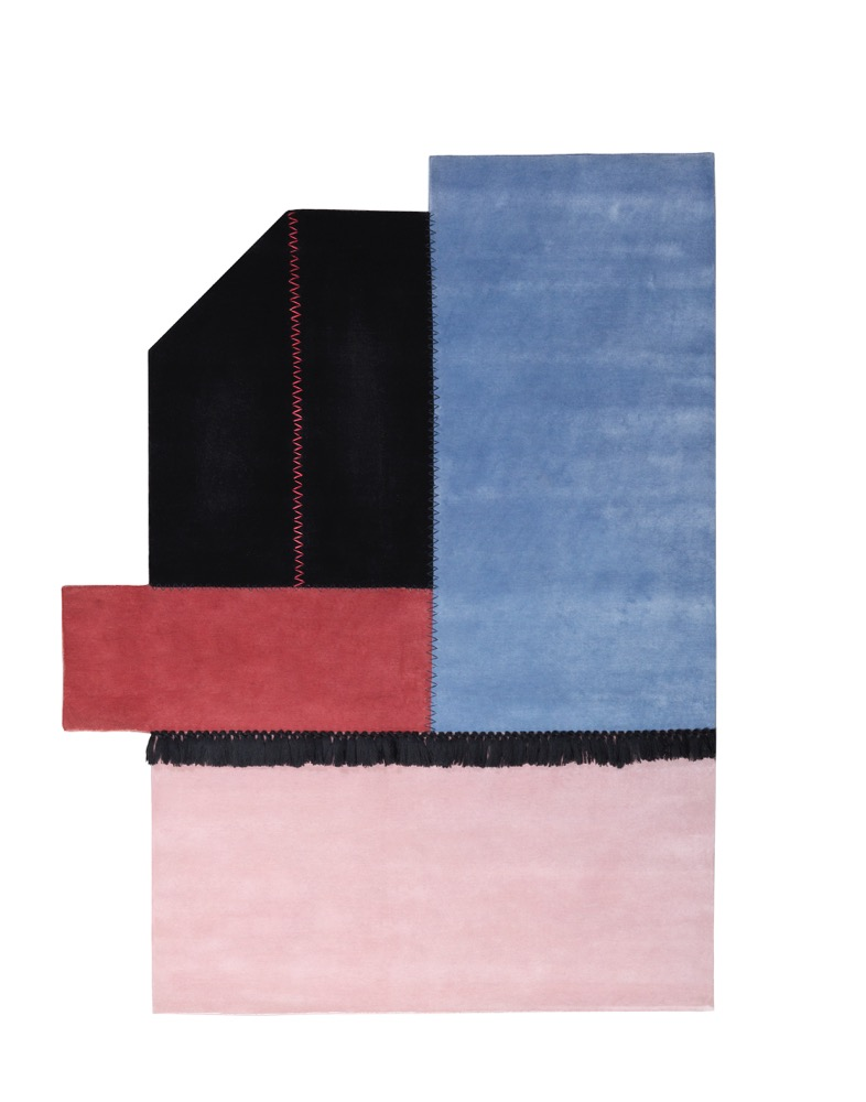 One of the rugs from the 'Terrazze' collection by Elena Caponi Studio for Mohebban Milano.