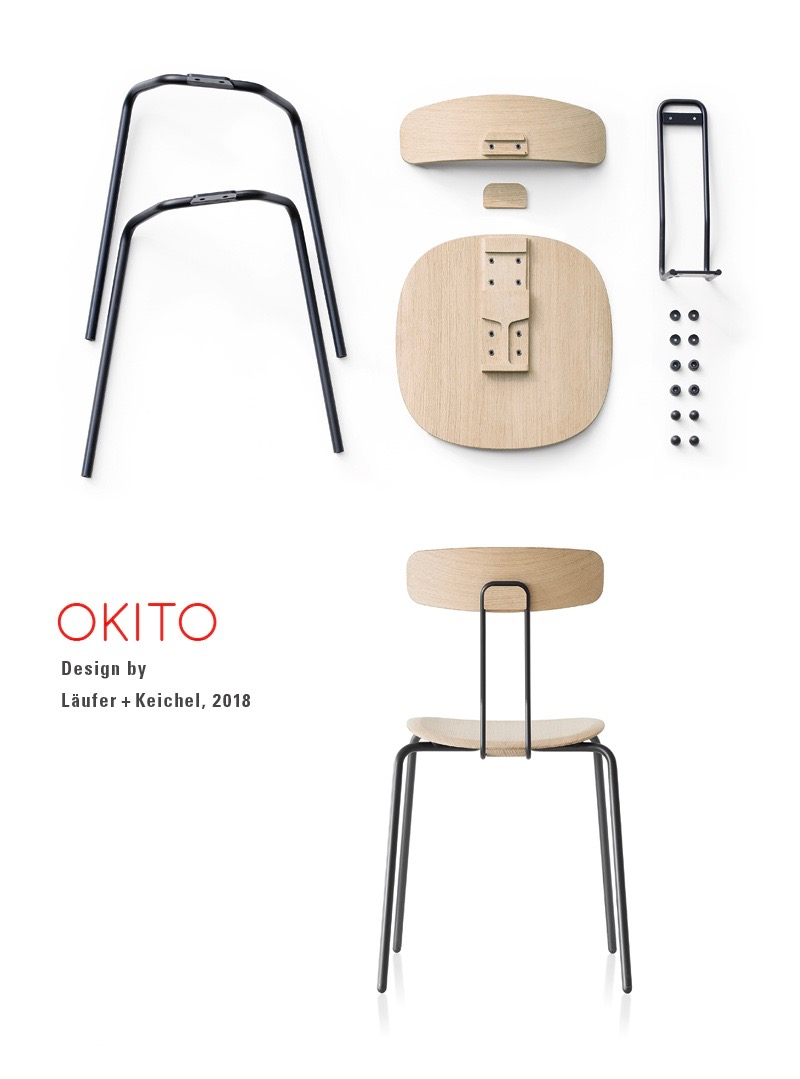 The 'Okito' chair by Låufer + Keichel for Zeitraum.
