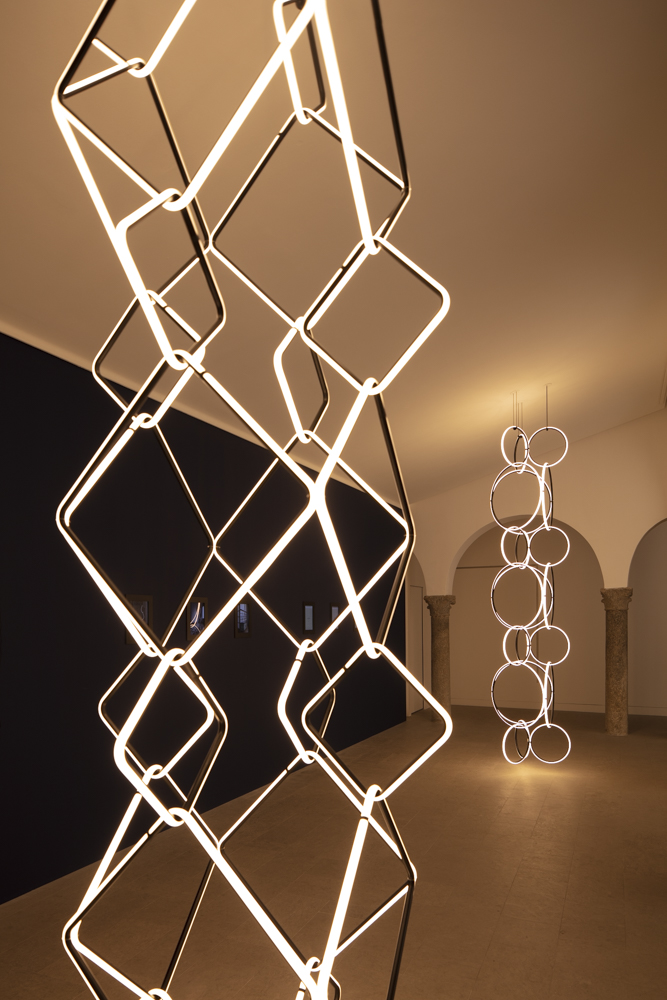 Michael Anastassiades'  Arrangements  installation at the Flos showroom Corso Monforte.