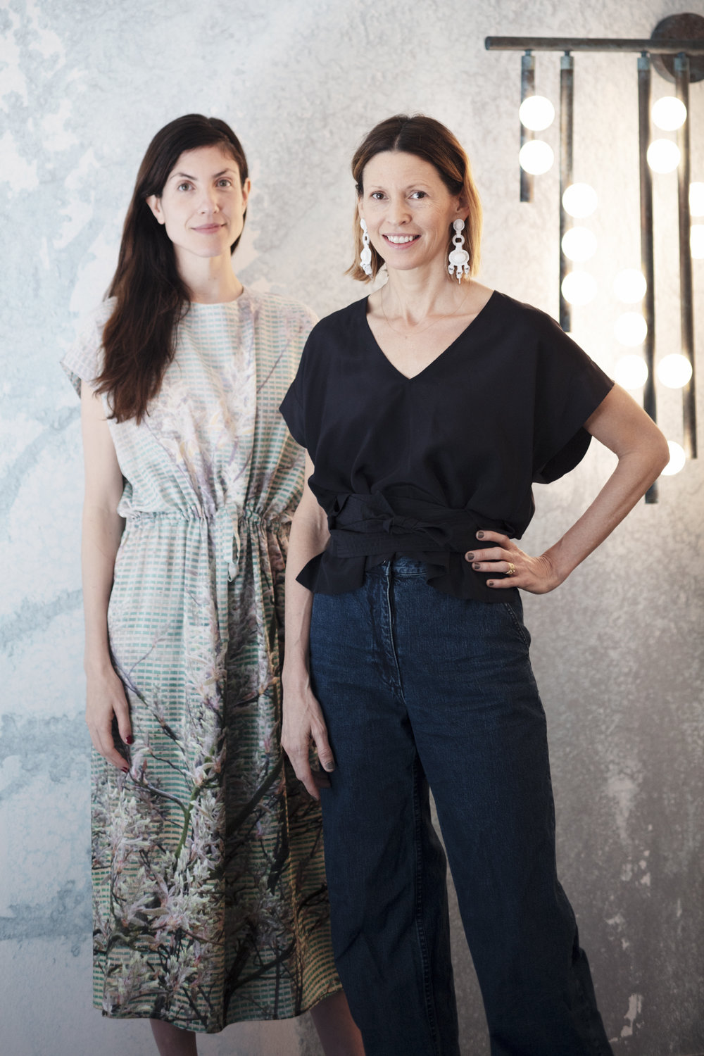 Rachel Cope of Calico Wallpaper (Left) and Lindsey Adelman.