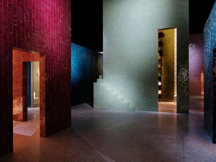Hermés installation at Museo della Permanente. Photo by François Lacour.