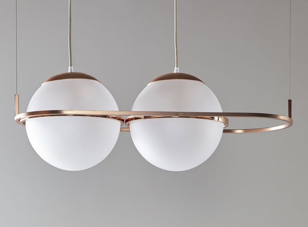 The 'Decamp' suspension lamp by  Federica Biasi  for  Mingardo .