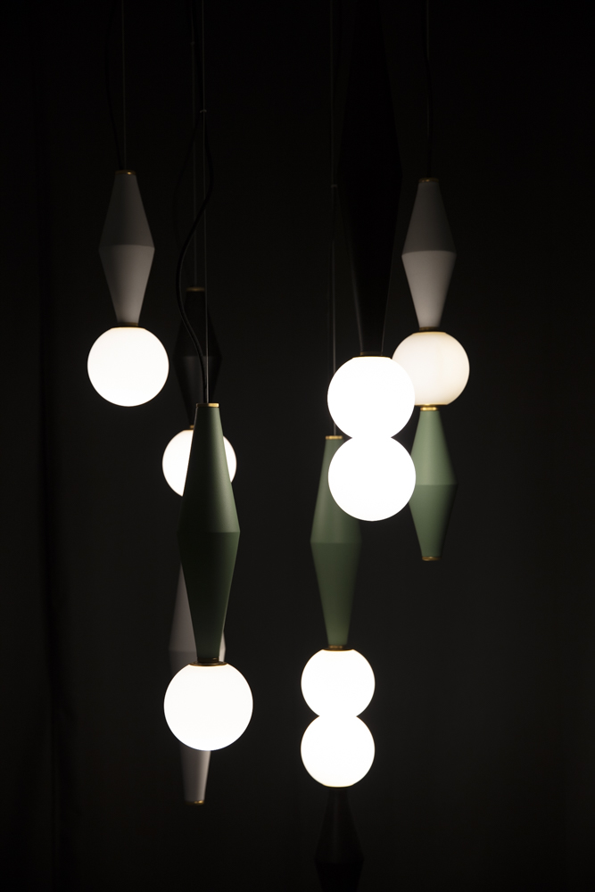 'Gamma' pendants by  Serena Confalonieri  for Nason Editions at Ventura Future. Photograph by Craig Wall.