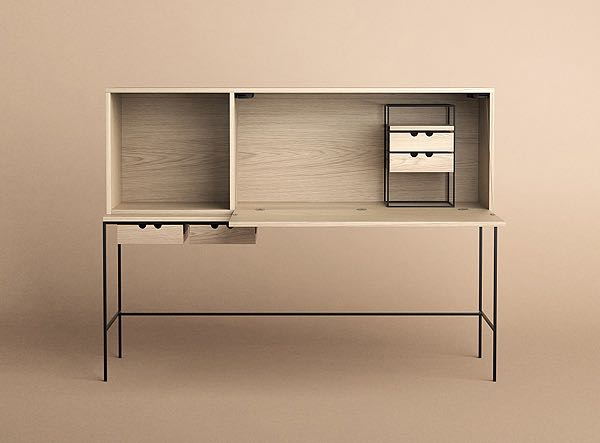 Another delight from the vault is the Paul McCobb desk (1952) reissued by  Karakter Copenhagen . McCobb was an extremely influential designer in his day creating a wide variety of furniture and lighting pieces - mainly for his American home audience.