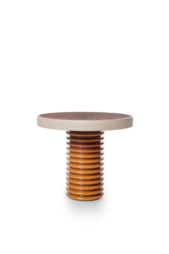 Tall round 'QD 03' table by David Lopez Quincoces for Six Gallery.